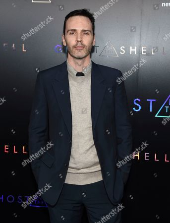 """Screenwriter Jamie Moss attends the premiere of """"Ghost in the Shell"""" at AMC Loews Lincoln Square, in New York"""