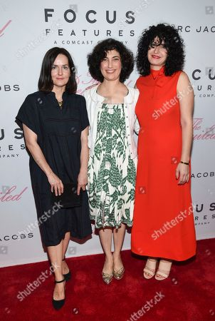 "Stock Image of Production designer Anne Ross, left, editor Sarah Flack and costume designer Stacey Battat attend the premiere of Focus Features' ""The Beguiled"" at Metrograph, in New York"
