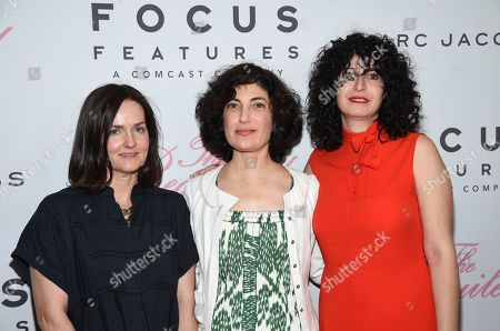 "Production designer Anne Ross, left, editor Sarah Flack and costume designer Stacey Battat attend the premiere of Focus Features' ""The Beguiled"" at Metrograph, in New York"