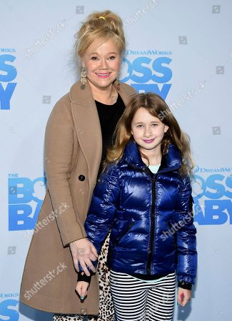 "Caroline Rhea and daughter Ava Rhea Economopoulos attend the premiere of ""The Boss Baby"" at AMC Loews Lincoln Square, in New York"