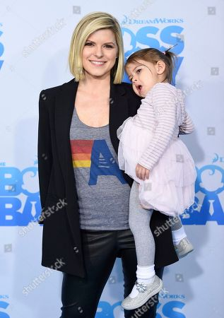 "Kate Bolduan and daughter attend the premiere of ""The Boss Baby"" at AMC Loews Lincoln Square, in New York"