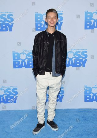 """Actor James Freedson-Jackson attends the premiere of """"The Boss Baby"""" at AMC Loews Lincoln Square, in New York"""