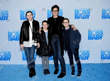 """Delphine Krakoff and family attend the premiere of """"The Boss Baby"""" at AMC Loews Lincoln Square, in New York"""