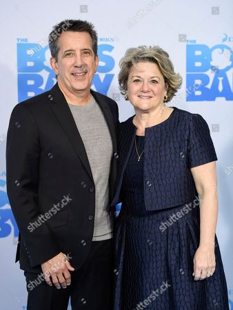 """Chris DeFaria President, DreamWorks Feature Animation Group, left, and Bonnie Arnold President, Feature Animation attend the premiere of """"The Boss Baby"""" at AMC Loews Lincoln Square, in New York"""