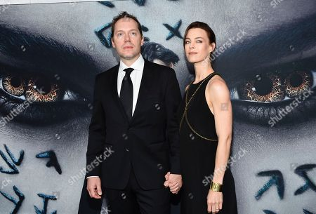 "Screnwriter Jon Spaihts and wife Johanna Watts attend a special screening of ""The Mummy"" at AMC Loews Lincoln Square, in New York"