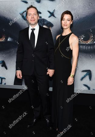 "Stock Photo of Screnwriter Jon Spaihts and wife Johanna Watts attend a special screening of ""The Mummy"" at AMC Loews Lincoln Square, in New York"