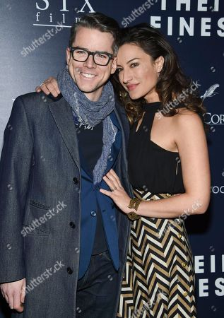 "Christian Campbell and wife America Olivo attend the premiere of ""Their Finest"" at the SVA Theatre, in New York"