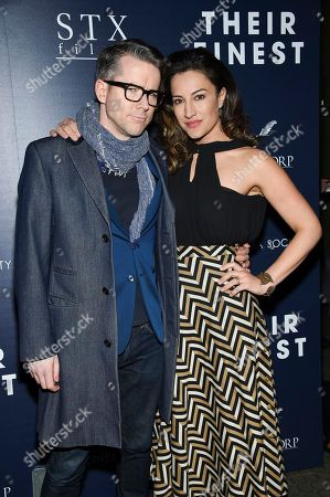 "Actor Christian Campbell and wife America Olivo attend the premiere of ""Their Finest"" at the SVA Theatre, in New York"
