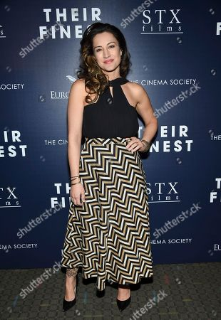 "Actress America Olivo attends the premiere of ""Their Finest"" at the SVA Theatre, in New York"
