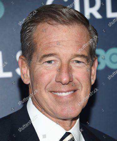 """MSNBC news anchor Brian Williams attends the premiere of HBO's """"Girls"""" sixth and final season at Alice Tully Hall, in New York"""
