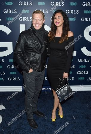 "Actors Diego Klattenhoff and Mozhan Marno attend the premiere of HBO's ""Girls"" sixth and final season at Alice Tully Hall, in New York"