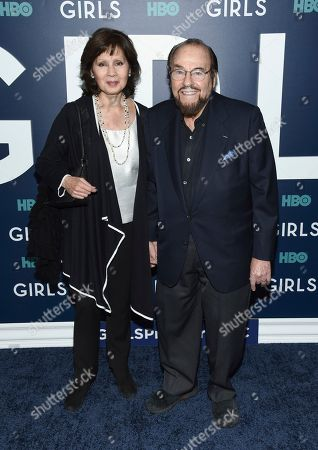 """James Lipton and wife Kedakai Turner attend the premiere of HBO's """"Girls"""" sixth and final season at Alice Tully Hall, in New York"""