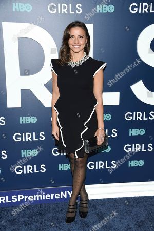 """Shoshanna Lonstein Gruss attends the premiere of HBO's """"Girls"""" sixth and final season at Alice Tully Hall, in New York"""
