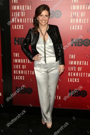 "Rebecca Skloot attends the premiere of HBO Films' ""The Immortal Life of Henrietta Lacks"" at the SVA Theatre, in New York"