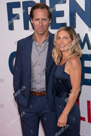 """Stock Photo of Nat Faxon and Meaghan Gadd attend the premiere of the Netflix original series """"Friends From College"""" at AMC Loews 34th Street, in New York"""
