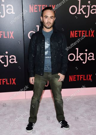 """Stock Image of Director John Krokidas attends the premiere of Netflix's """"Okja"""" at AMC Loews Lincoln Square, in New York"""