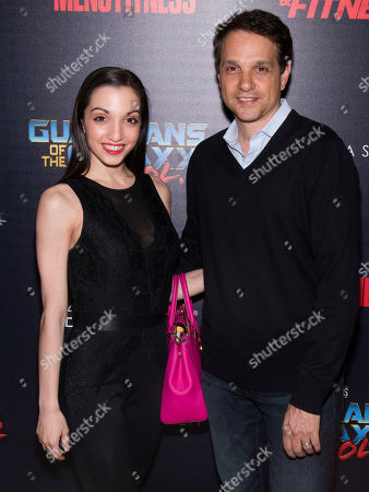 "Julia Macchio and Ralph Macchio attend a Marvel Studios' ""Guardians of the Galaxy Vol. 2"" screening hosted by The Cinema Society and Men's Fitness, at The Whitby Hotel, in New York"