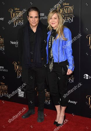 "Yul Vazquez, left, and Linda Larkin attend a special screening of Disney's ""Beauty and the Beast"" at Alice Tully Hall, in New York"