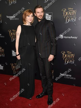 "Stock Photo of Actor Dan Stevens and wife Susie Stevens attend a special screening of Disney's ""Beauty and the Beast"" at Alice Tully Hall, in New York"