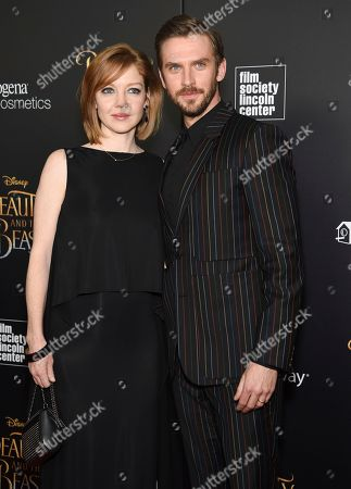 "Stock Image of Actor Dan Stevens and wife Susie Stevens attend a special screening of Disney's ""Beauty and the Beast"" at Alice Tully Hall, in New York"