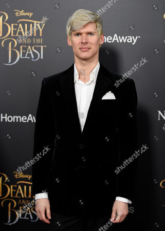 """Lucas Steele attends a special screening of Disney's """"Beauty and the Beast"""" at Alice Tully Hall, in New York"""