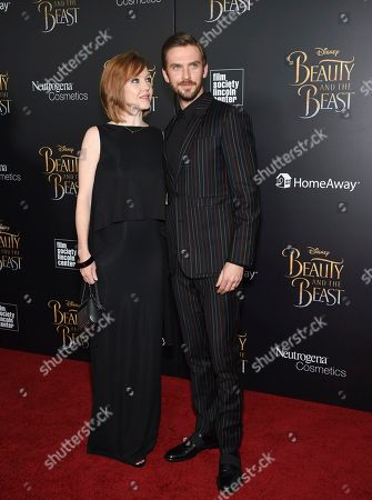 "Stock Picture of Actor Dan Stevens and his wife Susie Stevens attend a special screening of Disney's ""Beauty and the Beast"" at Alice Tully Hall, in New York"