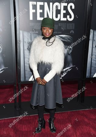"""Zainab Jah attends a special screening of """"Fences"""", at Rose Theater at Jazz at Lincoln Center's Frederick P. Rose Hall,, in New York"""