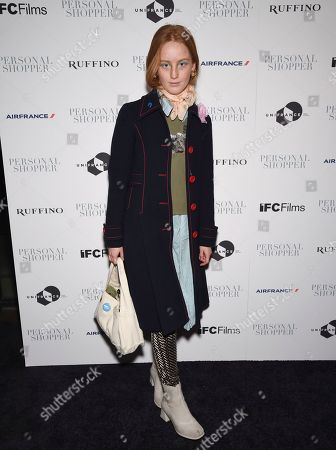 "India Menuez attends a special screening of ""Personal Shopper"" at Metrograph, in New York"