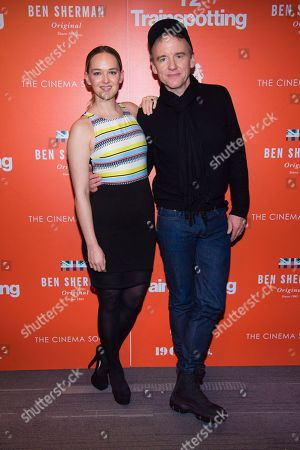 """Actress Jess Weixler, left, and David Wilson Barnes attend a special screening of """"T2 Trainspotting"""", hosted by TriStar Pictures, Film4 and The Cinema Society, at Landmark Sunshine Cinema, in New York"""