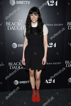 """Mitzi Akaha attends a special screening of """"The Blackcoat's Daughter"""", hosted by A24 and DirecTV, at Landmark Sunshine Cinema, in New York"""