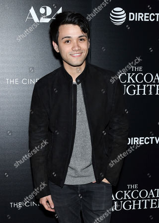 """Actor Giullian Yao Gioiello attends a special screening of """"The Blackcoat's Daughter"""", hosted by A24 and DirecTV, at Landmark Sunshine Cinema, in New York"""