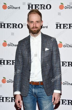 "Adam David Thompson attends a special screening of ""The Hero"" at The Whitby Hotel, in New York"