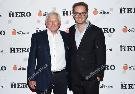"""Executive producer Frank Carson, left, and producer Sam Bisbee attend a special screening of """"The Hero"""" at The Whitby Hotel, in New York"""