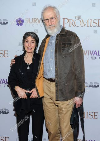 """Anna Stuart, left, and James Cromwell attend the special screening of """"The Promise"""" at The Paris Theatre, in New York"""