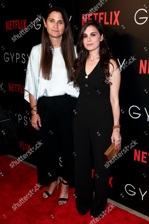 "Liza Chasin, left, and Lisa Rubin, right, attend a special screening of Netflix's ""Gypsy"" at Public, in New York"