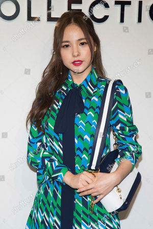 Stock Photo of Min Hyo-rin attends the Michael Kors show as part of NYFW Fall/Winter 2017 on in New York
