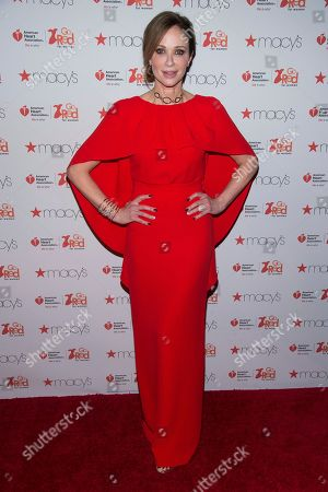Lauren Holly attends the Red Dress Collection 2017 show during Fashion Week on in New York