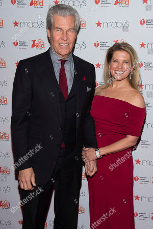 Terry Lundgren and Tina Lundgren attend the Red Dress Collection 2017 show during Fashion Week on in New York
