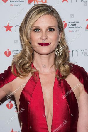 Bonnie Somerville attends the Red Dress Collection 2017 show during Fashion Week on in New York