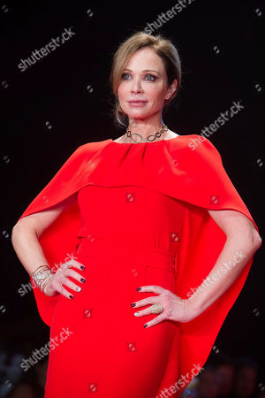 Lauren Holly walks the runway in the Red Dress Collection 2017 show during Fashion Week on in New York
