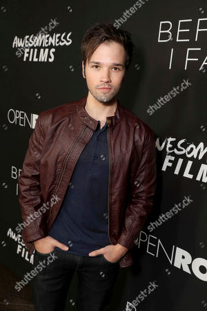 """Stock Image of Nathan Kress seen at Open Road Films and Awesomeness Films Los Angeles Premiere of """"Before I Fall"""" at Directors Guild of America, in Los Angeles"""