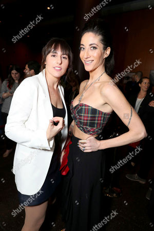"""Director Ry Russo-Young and Author Lauren Oliver seen at Open Road Films and Awesomeness Films Los Angeles Premiere of """"Before I Fall"""" at Directors Guild of America, in Los Angeles"""