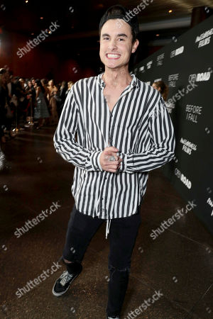 "Stock Image of Kian Lawley seen at Open Road Films and Awesomeness Films Los Angeles Premiere of ""Before I Fall"" at Directors Guild of America, in Los Angeles"