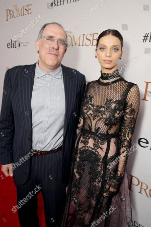 """Producer William Horberg and Angela Sarafyan seen at Open Road Films US Premiere of """"The Promise"""" at TCL Chinese Theatre, in Los Angeles"""