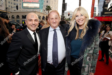 "Stock Image of Producer Eric Esrailian, Producer Mike Medavoy and Irena Ferris seen at Open Road Films US Premiere of ""The Promise"" at TCL Chinese Theatre, in Los Angeles"