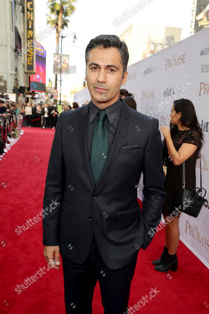 "Armin Amiri seen at Open Road Films US Premiere of ""The Promise"" at TCL Chinese Theatre, in Los Angeles"