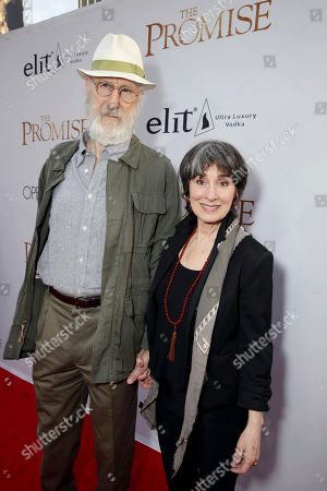 """James Cromwell and Anna Stuart seen at Open Road Films US Premiere of """"The Promise"""" at TCL Chinese Theatre, in Los Angeles"""