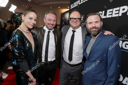 "Michelle Monaghan, Executive Producer Judd Payne, Executive Producer Peter Lawson and Director Baran bo Odar seen at Open Road Films' ""Sleepless"" Los Angeles Premiere at Regal LA LIVE, in Los Angeles"