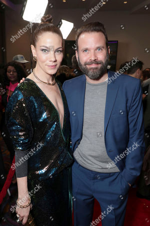 "Michelle Monaghan and Director Baran bo Odar seen at Open Road Films' ""Sleepless"" Los Angeles Premiere at Regal LA LIVE, in Los Angeles"