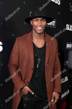 "Keith Carlos seen at Open Road Films' ""Sleepless"" Los Angeles Premiere at Regal LA LIVE, in Los Angeles"
